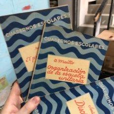 Collectionnisme Papier divers: LOTE 3 CUADERNOS ESCOLARES 1936 - BUEN ESTADO. Lote 285688293