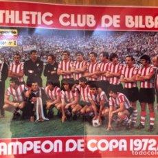 Outros artigos de papel: PÓSTER ATHLETIC CLUB DE BILBAO AÑO 1972-73. Lote 286296403