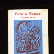 Coleccionismo Papel Varios: PROGRAMA FERIA Y FIESTAS EN CUEVAS BAJAS(MALAGA)-AÑO 1975-VER FOTO ADICIONAL .. Lote 287082248