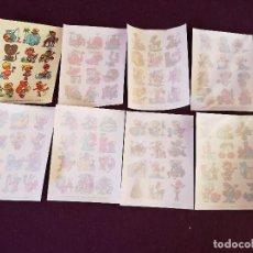 Collectionnisme Papier divers: LOTE DE 8 HOJAS DE CALCOMANÍAS DECORATIVAS I. C. DESLIZANTES, A ESTRENAR, UNOS 15 X 10 CMS.. Lote 287253358