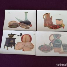 Collectionnisme Papier divers: LOTE DE 4 HOJAS DE CALCOMANÍAS DECORATIVAS NUBIOLA, BODEGONES, A ESTRENAR, UNOS 17 X 12 CMS.. Lote 287254018