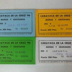 Altri oggetti di carta: LOTE DE TALONARIOS FIESTA MOROS Y CRISTINOS CARAVACA 1996 , PEÑA PURA SANGRE. Lote 287255393