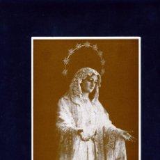 Coleccionismo Papel Varios: ESTAMPA DE MARIA SANTISIMA DEL ROCIO-COFRADIA DE MALAGA-VER FOTO ADICIONAL DEL REVERSO .. Lote 287668568