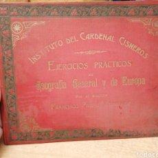 Coleccionismo Papel Varios: EJERCICIOS PRÁCTICOS DE GEOGRAFÍA GENERAL Y DE EUROPA. POR EL ALUMNO FRANCISCO PIVIDAL R. 1917. Lote 287669733