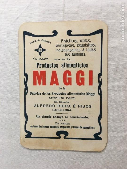 TRIPTICO PUBLICITARIO. PRODUCTOS ALIMENTICIOS MAGGI. EXPO. UNIVERSALES PARIS 1899 Y 1900. (Coleccionismo en Papel - Varios)
