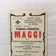 Coleccionismo Papel Varios: TRIPTICO PUBLICITARIO. PRODUCTOS ALIMENTICIOS MAGGI. EXPO. UNIVERSALES PARIS 1899 Y 1900.. Lote 287742528