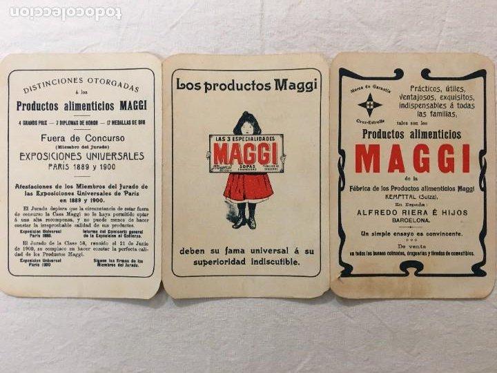 Coleccionismo Papel Varios: Triptico Publicitario. Productos Alimenticios MAGGI. Expo. Universales Paris 1899 y 1900. - Foto 3 - 287742528