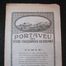 Coleccionismo Papel Varios: VILAFRANCA DEL PENEDES-PORTAVEU CENTRE EXCURSIONISTA VILAFRANQUI-ANY 1926-Nº14-VER FOTOS-(K-4116). Lote 288081658
