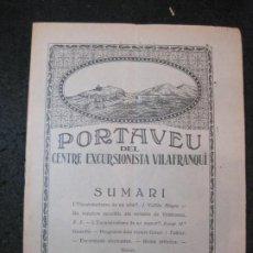 Coleccionismo Papel Varios: VILAFRANCA DEL PENEDES-PORTAVEU CENTRE EXCURSIONISTA VILAFRANQUI-ANY 1927-Nº15-VER FOTOS-(K-4117). Lote 288081728