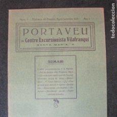 Coleccionismo Papel Varios: VILAFRANCA DEL PENEDES-PORTAVEU CENTRE EXCURSIONISTA VILAFRANQUI-ANY 1925-Nº7-VER FOTOS-(K-4118). Lote 288081828