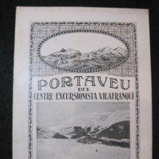 Coleccionismo Papel Varios: VILAFRANCA DEL PENEDES-PORTAVEU CENTRE EXCURSIONISTA VILAFRANQUI-ANY 1925 26-Nº10-VER FOTOS-(K-4119). Lote 288081958