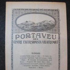 Coleccionismo Papel Varios: VILAFRANCA DEL PENEDES-PORTAVEU CENTRE EXCURSIONISTA VILAFRANQUI-ANY 1927-Nº17-VER FOTOS-(K-4120). Lote 288082093