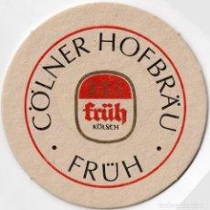 Coleccionismo Papel Varios: POSAVASOS - FRUH - COLNER HOFBRAU - KOLSCH -CERVEZA - ALEMANIA - CARTON GRUESO - 2 DIBUJOS VER FOTOS. Lote 288113193