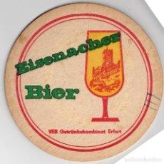 Coleccionismo Papel Varios: POSAVASOS - EISENACHER BIER - CERVEZA - ALEMANIA - CARTON GRUESO - REVERSO EN BLANCO. Lote 288124338