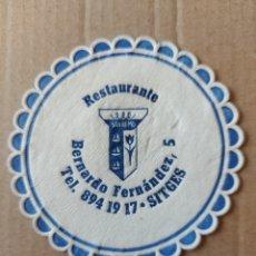 Coleccionismo Papel Varios: 9 CM POSAVASOS REDONDO PAPEL LOCAL CAFETERÍA RESTAURANTE SAN REMO BERNARDO FERNÁNDEZ SITGES. Lote 288971638