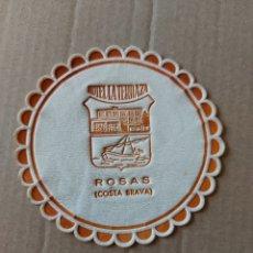 Coleccionismo Papel Varios: 9 CM POSAVASOS REDONDO PAPEL LOCAL RESIDENCIA HOTEL LA TERRAZA ROSAS COSTA BRAVA. Lote 288974313
