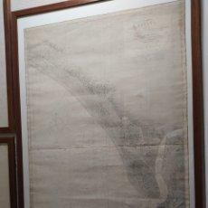 Coleccionismo Papel Varios: MAPA COSTA SUDOESTE DE ESPAÑA. DE TORRE LA HIGUERA A ARROYO HONDO. 1875. HOJA 3. Lote 289196868