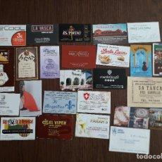 Outros artigos de papel: LOTE DE 25 TARJETAS DE VISITA DE PUBLICIDAD DE BARES, HOTELES, RESTAURANTES.... Lote 289516883