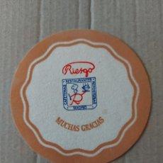 Coleccionismo Papel Varios: 9 CM POSAVASOS CARTÓN REDONDO RIESGO MADRID CAFETERÍA REPOSTERÍA RESTAURANTE .. Lote 289667683