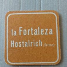 Coleccionismo Papel Varios: 9 CM POSAVASOS CARTÓN LA FORTALEZA HOSTALRICH GERONA BAR LOCAL RESTAURANTE. Lote 289668878