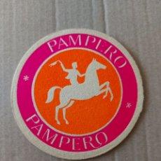 Coleccionismo Papel Varios: 8 CM POSAVASOS CARTÓN GRUESO PAMPERO BAR CLUB DISCOTECA DISCOTHEQUE LOCAL .. Lote 289670683