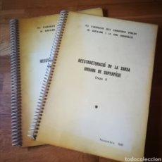 Coleccionismo Papel Varios: PLAN DE REESTRUCTURACIÓN DE LA RED AUTOBUSES DE BARCELONA , ETAPA 0, 1981, REPROGRAFÍA. Lote 289712128