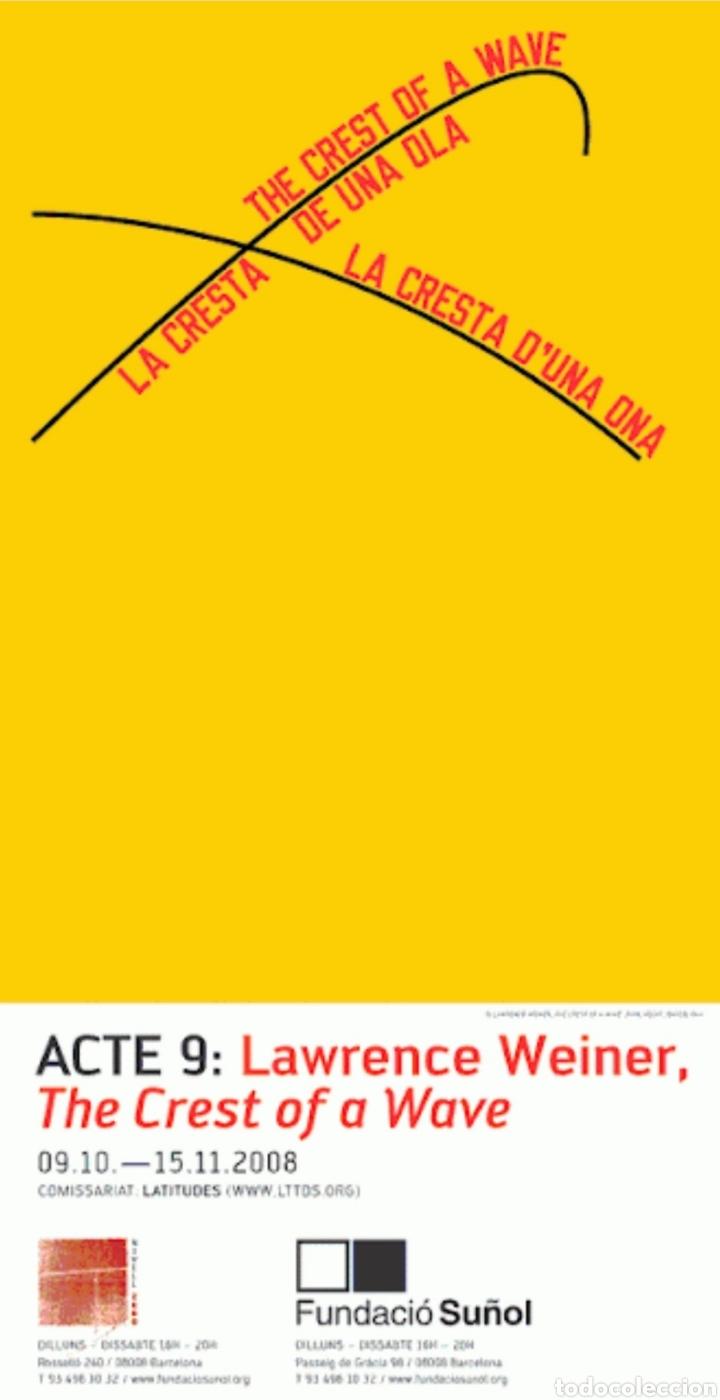 LAWRENCE WEINER POSTER (Coleccionismo en Papel - Varios)