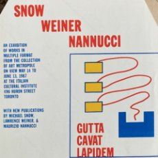 Coleccionismo Papel Varios: LAWRENCE WEINER/ NANNUCCI. Lote 289742873