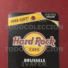 Coleccionismo Papel Varios: FLYER TARJETA PROMOCIONAL HARD ROCK CAFE DE BRUSELAS,. Lote 290146553