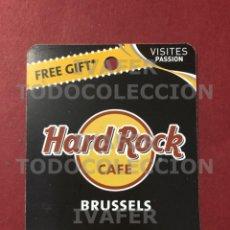 Coleccionismo Papel Varios: FLYER TARJETA PROMOCIONAL HARD ROCK CAFE DE BRUSELAS,. Lote 290146578