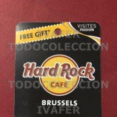 Coleccionismo Papel Varios: FLYER TARJETA PROMOCIONAL HARD ROCK CAFE DE BRUSELAS,. Lote 290146593