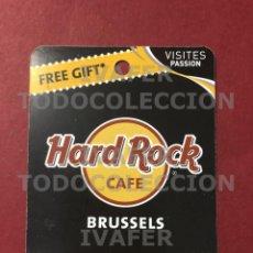 Coleccionismo Papel Varios: FLYER TARJETA PROMOCIONAL HARD ROCK CAFE DE BRUSELAS,. Lote 290146618