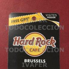Coleccionismo Papel Varios: FLYER TARJETA PROMOCIONAL HARD ROCK CAFE DE BRUSELAS,. Lote 290146653