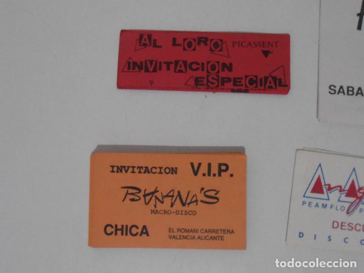 Coleccionismo Papel Varios: LOTE PASES VIP, INVITACIONES, ENTRADAS A DISCOTECAS Y PUBS DE VALENCIA, AÑOS 80 - Foto 2 - 292303733
