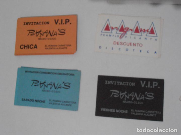 Coleccionismo Papel Varios: LOTE PASES VIP, INVITACIONES, ENTRADAS A DISCOTECAS Y PUBS DE VALENCIA, AÑOS 80 - Foto 3 - 292303733
