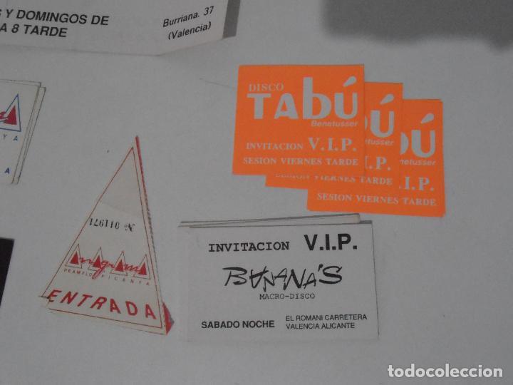 Coleccionismo Papel Varios: LOTE PASES VIP, INVITACIONES, ENTRADAS A DISCOTECAS Y PUBS DE VALENCIA, AÑOS 80 - Foto 4 - 292303733