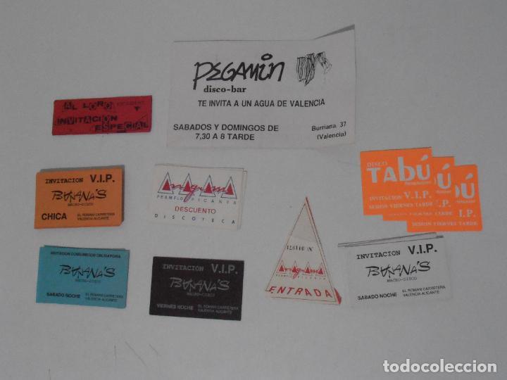 Coleccionismo Papel Varios: LOTE PASES VIP, INVITACIONES, ENTRADAS A DISCOTECAS Y PUBS DE VALENCIA, AÑOS 80 - Foto 6 - 292303733