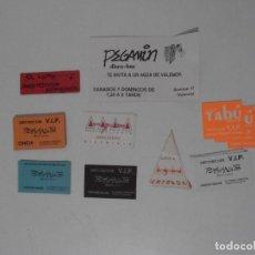 Coleccionismo Papel Varios: LOTE PASES VIP, INVITACIONES, ENTRADAS A DISCOTECAS Y PUBS DE VALENCIA, AÑOS 80. Lote 292303733