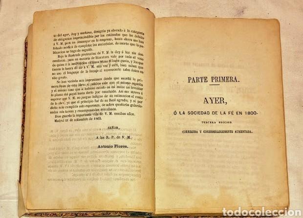 Coleccionismo Papel Varios: AYER, HOY Y MAÑANA, Ó LA FÉ, EL VAPOR Y LA ELECTRICIDAD. CUADROS SOCIALES DE 1800, 1850 Y 1899 - Foto 2 - 293537258