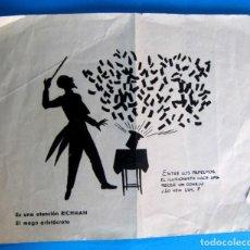 Coleccionismo Papel Varios: MAGIA, ILUSIONISMO. APARICION DEL CONEJO QUE SALE DE LA CHISTERA. ES UNA ATENCIÓN DE RICHMAN, MAGO.. Lote 293744573