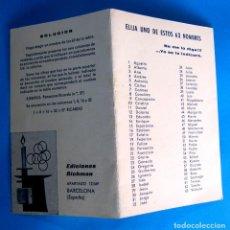 Coleccionismo Papel Varios: MAGIA, ILUSIONISMO. VD. PIENSA EN UNO DE LOS NOMBRE Y EL ADIVINO, LO ADIVINA. EDICIONES RICHMAN.. Lote 293751228