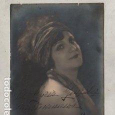 Coleccionismo Papel Varios: AUTOGRAFO DE LA FAMOSA ACTRIZ HERMINIA MÁS ARGENTINA 11-10-1928 FOTO MASANA. Lote 293804143
