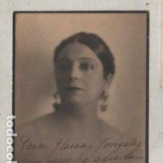 Coleccionismo Papel Varios: AUTOGRAFO DE LA ACTRIZ PILAR MILLAN ASTRAY - LA CORUÑA GALICIA. Lote 293814718