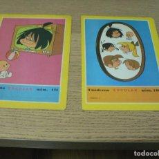 Coleccionismo Papel Varios: CUADERNO ESCOLAR LA FAMILIA TELERIN Nº 140 Y 141. Lote 293878983