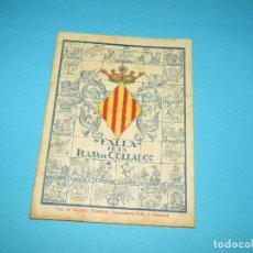 Coleccionismo Papel Varios: ANTIGUO LIBRO DE LA FALLA PLASA DE COLLADO. Lote 295484373