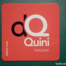 Coleccionismo Papel Varios: POSAVASOS - DQ - DON QUINI - TAPAS BAR. Lote 295506678