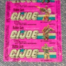 Coleccionismo Papel Varios: ENVOLTORIO GI JOE BUBBLE GUM FRESA AÑOS 80/90. Lote 295511328