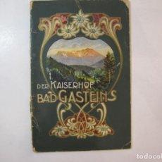 Coleccionismo Papel Varios: DER KAISERHOF BAD GASTEINS-PLANOS DE LOS HOTELES KAISERHOF-VER FOTOS-(K-4438). Lote 295513133