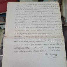 Coleccionismo Papel Varios: VELEZ BLANCO ALMERIA S XIX TEMA AGUAS DE RIEGO 1859. Lote 295919243