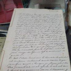 Coleccionismo Papel Varios: DOCUMENTOS S XIX RIO CLARO VELEZ BLANCO ALMERIA 1853. Lote 295921148
